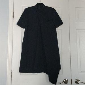 Origami-neck asymetric COS dress